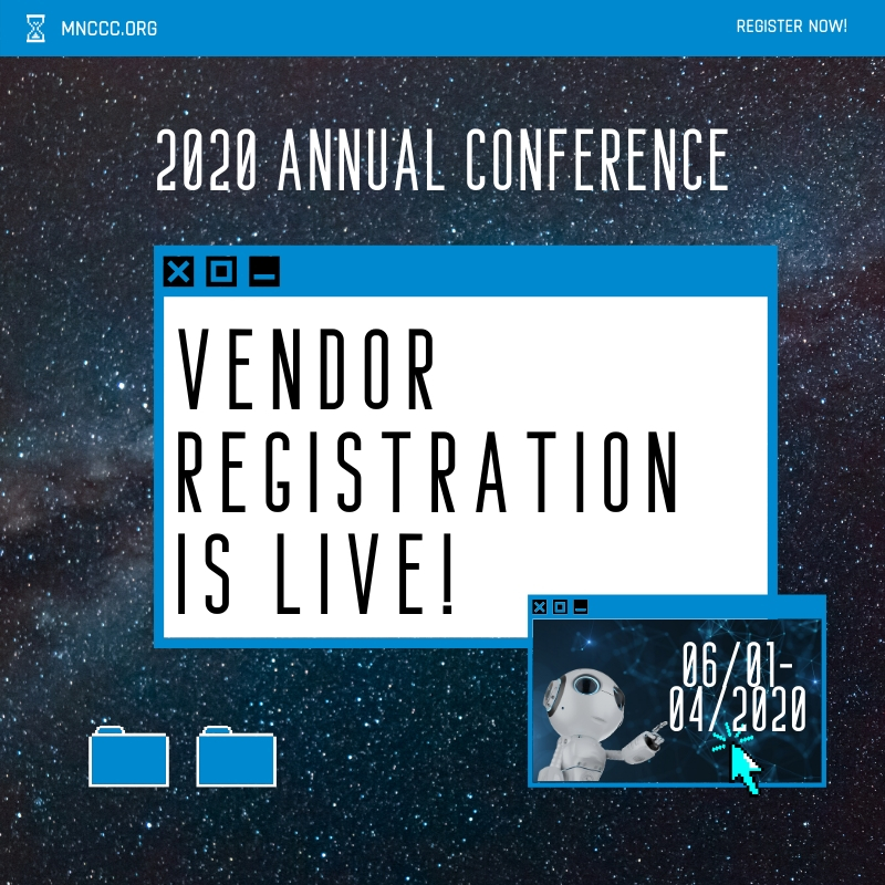 Conference Vendor Registration Announcement Computer Screen