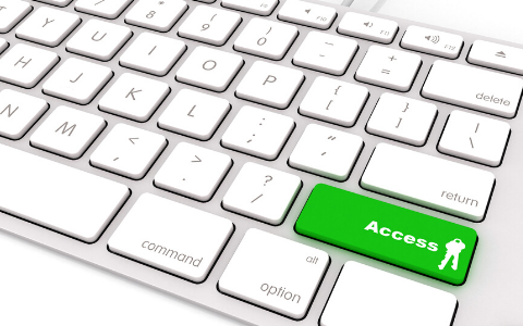 Keyboard with highlighted key that says access