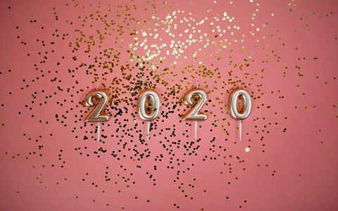 2020 Candles with Confetti - Photo courtesy of Pexels